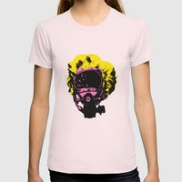 Marilyn Womens Fitted Tee Light Pink SMALL