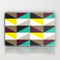 Yellow, purple, turquoise triangle pattern Laptop & iPad Skin