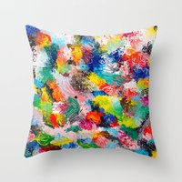 rainforest abstract 1 Throw Pillow