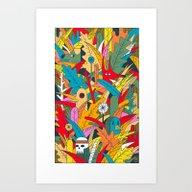 Art Print featuring Jungle Party by Jorge De La Paz