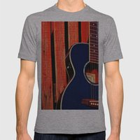6 Strings and a Barn Mens Fitted Tee Athletic Grey SMALL