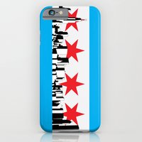 iPhone & iPod Case featuring New Chicago Flag by Thousand Lines Ink