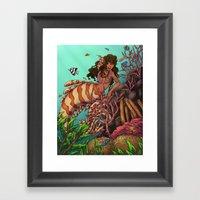 Tropical Beauty Framed Art Print