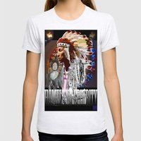 HOMELAND SECURITY Womens Fitted Tee Ash Grey SMALL