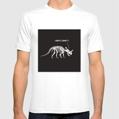 I hate comet! SMALL Mens Fitted Tee White