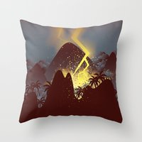 Boom! (Cropped Version) Throw Pillow