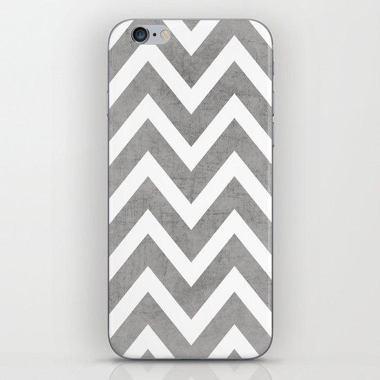 gray chevron iPhone & iPod Skin