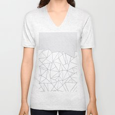 Ab Lines 45 Grey and Black Unisex V-Neck