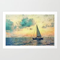 Sailing Along Art Print