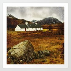 Blackrock Cottage Glencoe Scotland Art Print