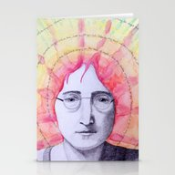 JohnLennon Let It Be  Stationery Cards