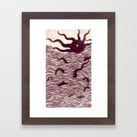 Octopus The Rising Sun I… Framed Art Print