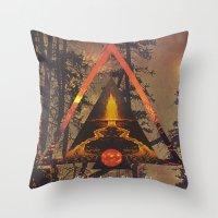 MYSTIC//FIRE Throw Pillow