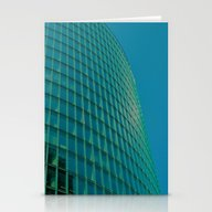 Teal Blue Abstract Stationery Cards