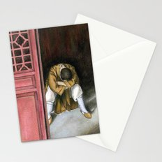 praying chinese monk Stationery Cards