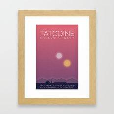 Star Wars Tatooine Framed Art Print