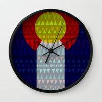 Colorado Flag/Geometric Wall Clock