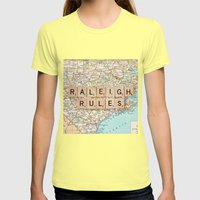 Raleigh Rules Womens Fitted Tee Lemon SMALL