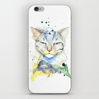 Suspicious Cat iPhone & iPod Skin