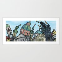 View From Charles Bridge Art Print