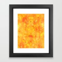WatercolourTexture Yello… Framed Art Print