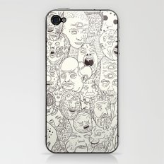 Faces of Math (no color edition)  iPhone & iPod Skin