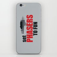 Set Phasers to Fun! iPhone & iPod Skin
