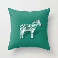Animal Kingdom: Zebra II… Throw Pillow