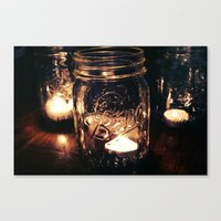 Candle Jar Canvas Print