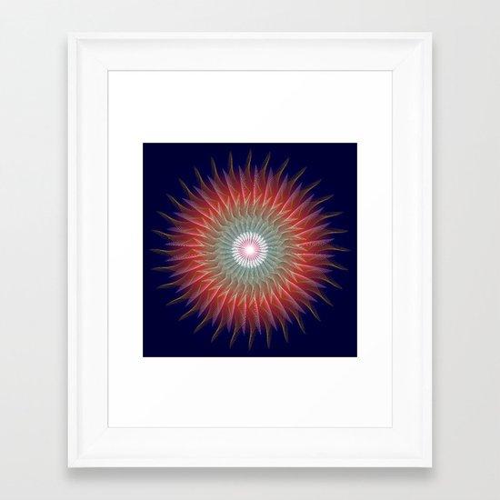 Flaming Desire Framed Art Print