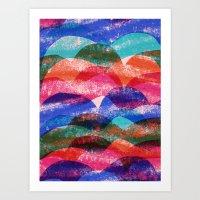 Scallop print Art Print