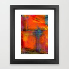 Orange Interaction Framed Art Print