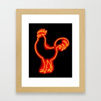 Glowing Cock Framed Art Print