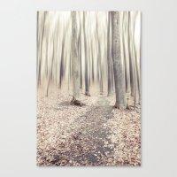 walking through the last days of autumn Canvas Print