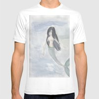 Mermaid Sister Mens Fitted Tee White SMALL