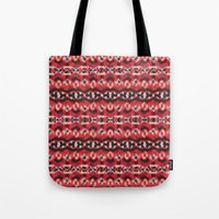 Montana Stripe - Cherry Tote Bag