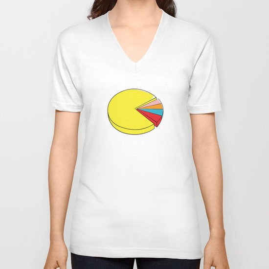 Epic Pie Chart V-neck T-shirt