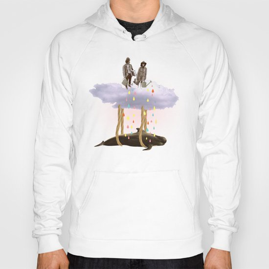 couple who travels on a cloud with a whale  Hoody