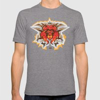 Lion King Mens Fitted Tee Tri-Grey SMALL