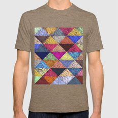 Color Texture, Geometric… Mens Fitted Tee Tri-Coffee SMALL