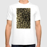 Gold Triangles Mens Fitted Tee White SMALL