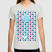 SocialCloud Pattern Womens Fitted Tee Silver SMALL