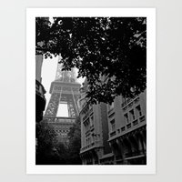 Eiffel Tower In Hiding Art Print