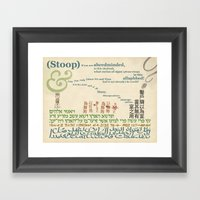 what curios of signs in this ollaphbed! Framed Art Print