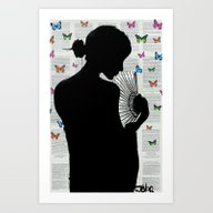 THE BUTTERFLY PATH Art Print