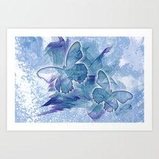 Fly butterfly fly Art Print