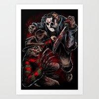 Freddy vs Jason Art Print