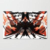 Rorschach Samurai Canvas Print