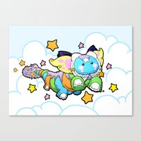 Dream Dragon Flies Canvas Print