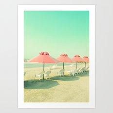 Pink Row I Art Print